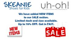 We have added new items to our SALE section. Great bargains to be had. New Item, Kid Shoes, Ads, Crib Shoes