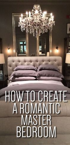Master Bedroom - How to Create a Romantic Master Bedroom - Romantic Master Bedrooms to Make Every Night Date Night - Master Bedroom Decor Romantic, Canopy Bed, Cozy Bedroom