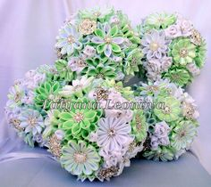 Bridesmaids Brooch Bouquets Fabric Wedding Bouquets in by LIKKO