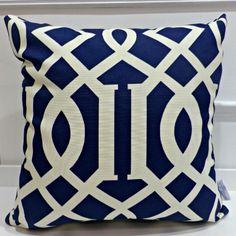 Deep Blue Column Indoor/Outdoor Cushion