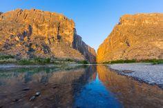 Rio Grande River at Santa Elena Canyon on Mexican border in Big Bend National Park, Texas - Danita Delimont/Getty Images