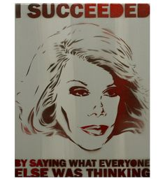 Joan Rivers Portrait Comedy Painting 11x14 Wall Art by MrMahaffey