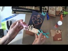 How to build a photo mini album with G45 Olde Curiosity Shoppe paper collection Part  18