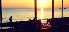 Sonnenuntergang an der slowenischen Küste
