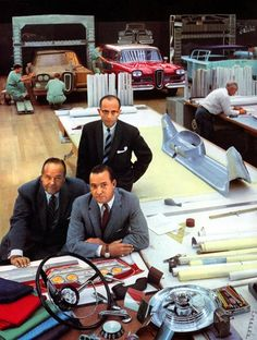 Ford executives in the Edsel Styling Studio