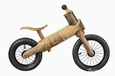 greenchamp bikes is a bamboo-crafted child's balance bicycle for kids from through Bamboo Bicycle, Wooden Bicycle, Wood Bike, Bamboo Art, Bamboo Crafts, Balance Bicycle, Bamboo Construction, Bamboo Architecture, Bamboo House
