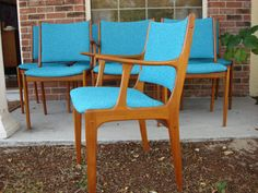 8 Danish Modern Teak Dining Chairs Freshly by MadCentModernMadness