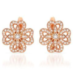Gold Plated Silver 0.59 CTW Cubic Zirconia Ladies Earrings. Length 14.5 mm. Total Item weight 5.3 g. VividGemz. $95.00