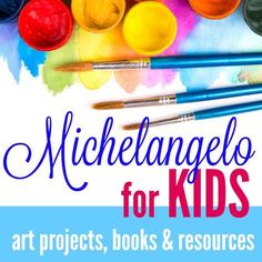 It's March and that means another birthday celebration. This month let's  learn about Michelangelo with these fun learning ideas for kids.  Michelangelo was a Renaissance sculptor, painter, architect, and poet. He  studied fresco painting before studying at the Medici School and becoming a  scu
