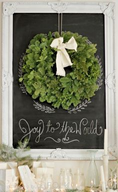 {Decor} Christmas mantel by jacquelyn