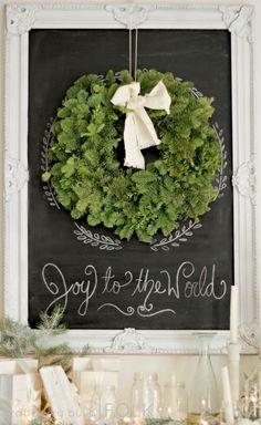 Christmas mantel by jacquelyn