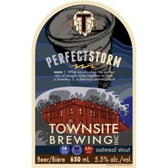 Townsite Perfect Storm Oatmeal Stout Coming Soon Powell River, Beer 101, Local Brewery, Naturally Beautiful, Craft Beer, Brewing, Oatmeal, British Columbia, Ephemera