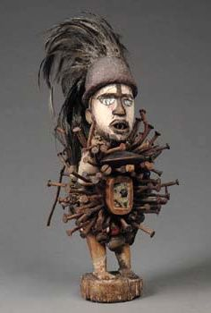 """Power/Magic figure """"nkisi"""" from the Bakongo people of DR Congo 