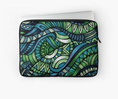 Street-Art blue/green pattern Laptop case / Ipad case Laptop Case, Ipad Case, Green Pattern, Telephone, Blue Green, Street Art, Vintage, Iphone, Etsy