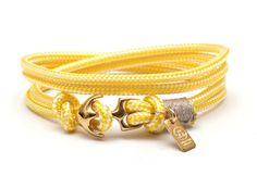 #lechatvivi #ancor #bracelet #ancorbracelet Ancor bracelet by LeChatVIVI BERLIN® with nice colour yellow www.lechatvivi-berlin.com