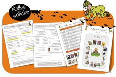 Rallye-lecture policier lots of reading resources on diff themes Reading Resources, France, Games, Vocabulary, Index Cards, Hunting, Children, Projects, Gaming
