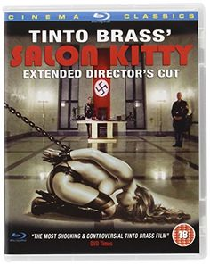 Salon Kitty Complete Extended Director's Cut (Blu-Ray) (Region Free) Helmut Berger (Actor), Ingrid Thulin (Actor), Tinto Brass (Director)  Rated: Suitable for 18 years and over  Format: Blu-ray    23 customer reviews Price:	£12.99 & FREE Delivery in the UK on orders over £20. Details Only 11 left in stock (more on the way). Dispatched from and sold by Amazon. Gift-wrap available. Want it tomorrow, 12 July? Order it within 39 mins and choose One-Day Delivery at checkout. Details 23 new from £12.9