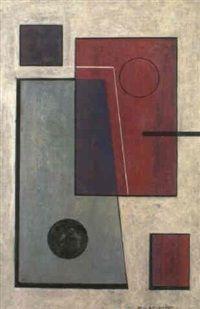 Construction cerise et gris by Marcel-Louis Baugniet 1931