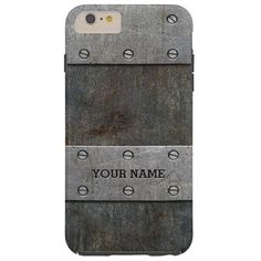 Personalized Faux Old Metal Tough iPhone 6 Plus Case