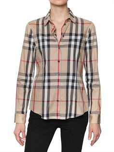 BURBERRY BRIT    STRETCH TWILL CHECK SHIRT    ITEM CODE 56I-040010         € 210.14    IMPORT FEES AND SHIPPING INCLUDED