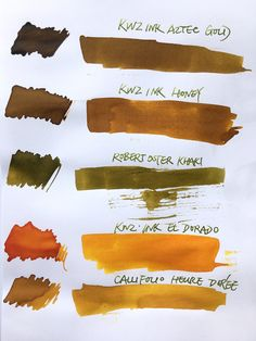 Kwz Ink El Dorado - posted in Ink Reviews: A new ink from KWZI. El Dorado is a yellow-orange ink. It lays down on paper with as more yellow with a slightly greenish tint and dries to a more orange colour. This kind of colour change I have noticed in Diamine Autumn Oak too. Its exactly because of this greenish tint* when its wet that Autumn Oak repulses me (plus the Sahara-dryness of that ink). I feel better with El Dorado, although I still prefer the dried colour to the wet one. And El…