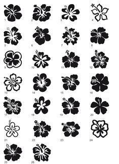 Lotus Flower Tattoo Stencils | Moi je verrais bien des lotus. Hawaiian Flowers, Hibiscus Flowers, Lotus Flower, Lotusblume Tattoo, Lotus Tattoo, Small Flower Tattoos, Small Tattoos, Stencils Tatuagem, Flower Tattoo Stencils