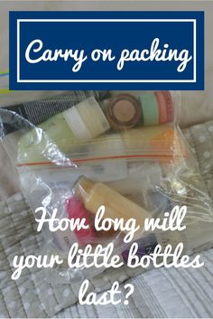 How long do those little travel bottles last? I've done the tests and give you the low down on how long you can expect every little bottle of every lotion, cream and paste to last Carry On Packing, Packing Tips For Travel, Travel Advice, Travel Essentials, Packing Hacks, Travel Stuff, Bus Travel, Travel Bags, Travel Bottles