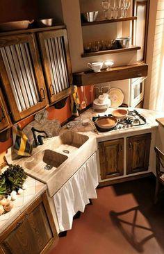19 fantastiche immagini su Cucine in Muratura   Kitchens, Rustic ...