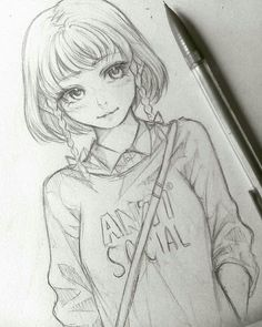 Like you! The post Wie du ! appeared first on Frisuren Tips - People Drawing Anime Drawings Sketches, Anime Sketch, Manga Drawing, Drawing Faces, Cartoon Drawings, Manga Art, Cute Drawings, Anime Art, Drawing Tips