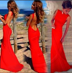 Save ideas from Halter Prom gowns, backless evening dresses, Chiffon Formal prom dress, Floor-Length A-Line gowns, mermaid style long prom dresses and more. Backless Maxi Dresses, Prom Dresses With Sleeves, Mermaid Prom Dresses, Sexy Dresses, Formal Dresses, Dress Prom, Sleeveless Dresses, Formal Prom, Beach Dresses