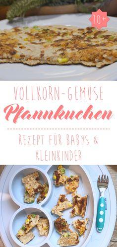 Rezept Volkorn Gemüsepfannkuchen geeignet für Babys & Kleinkinder #blw #pfannkuchen