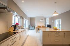 #whitekitchen Beautiful Kitchen Designs, Beautiful Kitchens, House Designs Ireland, Dormer Bungalow, Cottage Extension, Farmhouse Renovation, Architect House, House Numbers