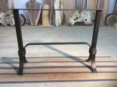 Ohiowoodlands Console Table Base. Steel Sofa Table Legs. Accent Table Base. Sofa Table Legs. Powder Coated Table Legs For Sale. Solid Steel.