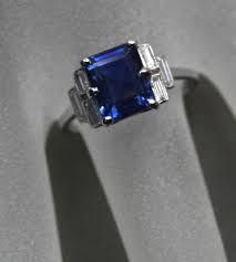 Image result for art deco diamond sapphire rings