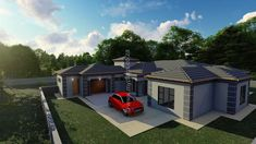 5 Bedroom House Plan - My Building Plans South Africa 5 Bedroom House Plans, My House Plans, My Building, Building Plans, Beautiful House Plans, Beautiful Homes, Home Design Plans, Plan Design, Floor Layout