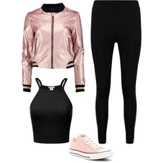 Sin título #654 by paolalopez242 on Polyvore featuring polyvore, fashion, style, Boohoo, Converse and clothing
