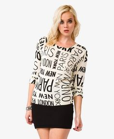Global Cities Sweater | FOREVER21 - 2027705192