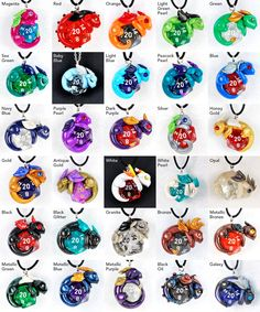 Design your own d20 dragon pendant polymer clay by HowManyDragons