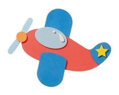 Moosgummi Flugzeug,Bastelset von Kreativstudio-Nagel auf DaWanda.com