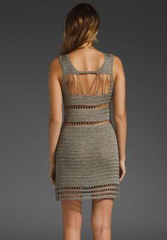Crochetemoda: Vestido de Crochet Cinza