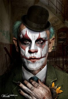 Celebrity clowns ~John Malkovich Photoshopped/Worth 1000