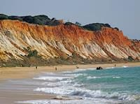 Views of the beach, Falesia, at the 5 * Pine Cliffs resort in the Algarve