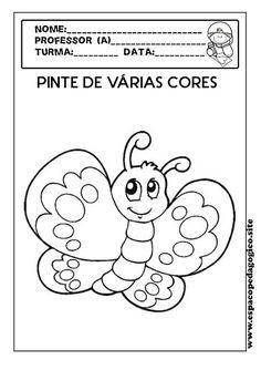 ESPAÇO PEDAGÓGICO: Atividades sobre cores para a Educação Infantil! Summer Crafts For Kids, Drawing For Kids, Coloring Pages, Classroom, Education, School, Junho, Geo, Album