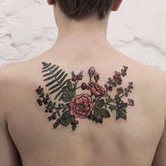 Botanical Back Piece by Olga Nekrasova