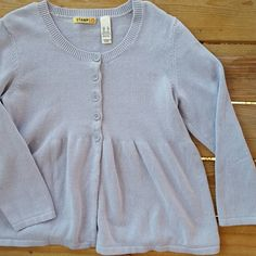 Stamp 10 Button Sweater The tag says Bistro Blue! A thick sweater that buttons up the front, can be worn alone or open it up over a cute top. 100% cotton, lightly worn in like great condition. Stamp 10 Sweaters Cardigans
