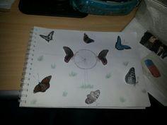 3D vlindertekening is af :)