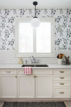 Prettying Up a Builder Kitchen: One Room Challenge Final Reveal, Vanessa Francis Design, @moen Waterhill faucet