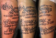 Serenity Prayer Tattoo On Arm Look into the Immanuel Prayer Wheel - Maranatha Prayer Community today as well as assemble with many others in crying out for our God's quick return, and also pray for your desires, as well as many other things. Click below for more info!