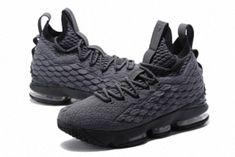 new product da84d 0b81d Intricate Nike LeBron XV Mens Basketball Shoes Dark Grey Black