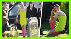 Arrived To The Funeral Of His Friend Dress Of Woman When They Discovered...
